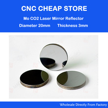 New Mo Reflective Mirror 3pcs/lot Diameter 20mm DIY Kit Co2 Laser Mirror lens for laser cutting engraving parts