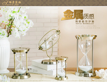 Fashion Bronze crystal hourglass timer wedding gift quality gift crafts decoration home