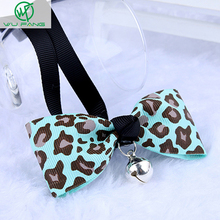 Leopard Pet Cat Dog Bell Bow Tie Collar Neck Accessory Necklace Puppy Bright Colour Pet Bowtie Lot Grooming Accessories Boutique
