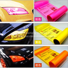 Free shipping 40CMX100CM/Lot Glossy headlight car film for lamp protection with 3 layers