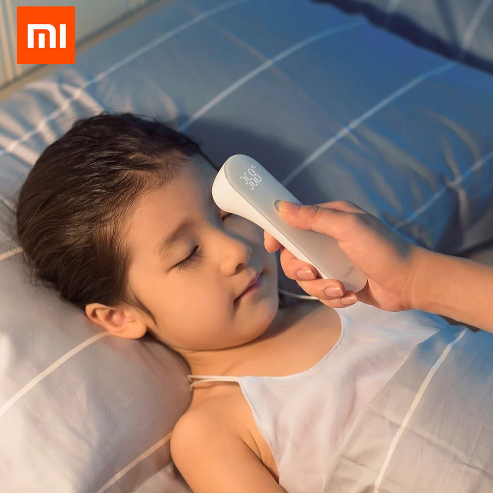 Original Xiaomi Mijia iHealth Thermometer Accurate Digital Fever Infrared Clinical Thermometer Non Contact Measurement LED Shown<br>