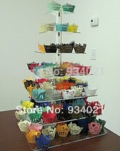 Free Shipping 7 Tier Square Shape Acrylic wedding Cake Stand  Acrylic Cupcake Holder cupcake stand