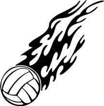 Car Styling For flaming soccer ball goal goalie boy girl VINYL DECAL STICKER - +