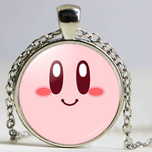 Free shipping Kirby Bijoux Kirby Art Picture Silver Necklace Handmade Jewelry Glass Alloy My Orders on Aliexpress(China)