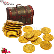 100pcs/fashion jewelry retro gold coins Halloween decorations pirate treasure box currency children's toys game currency 5ZHH203