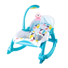 Baby Music Light Infant Balance Rocker Care Chair Newborns Portable Baby Chair Folding Bed Baby Rocking Chair Baby Cradles Bed(China)
