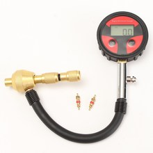 Auto Motorcycle Car Cycle Truck Tire LCD Digital Pressure Gauge With Tire Core 2x Built-in CR2032(China)