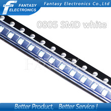 100pcs White 0805 SMD LED diodes light Free shipping(China)