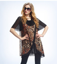 Leopard Animal Print Summer Style Swing Dresses Women Plus size Vestidos 2015 smock dress 3XL Clothing Quality Dresses