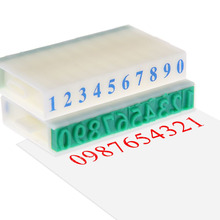 0-9 Numbers Rubber Stamp Free Combination DIY Crafts Plastic Seal Scrapbooking Supplies(China)