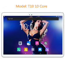 Free shipping Ultra Slim Design 10 inch 3G 4G Lte Tablet PC 10 Core 4GB RAM 64GB ROM Dual SIM Card Android 7.0 IPS tablet PC 10