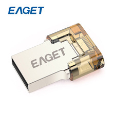 100% Original 32GB USB Eaget V8 USB Flash Drive 2.0 + OTG Pen Drive 32 gb for Phones Tablets Computers Two in One Pen Drive