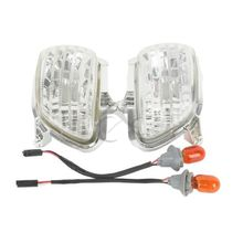 Clear Plastic Front Side Turn Signal Lights For Honda Goldwing GL1800 2001-2014 Golding F6B 2013-2015 02 03 04 05 09 10 11(China)