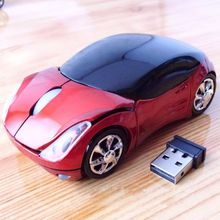 2016 Popular Funny 3D Car Voiture Shaped 2.4GHz Optique Wireless Mouse Mice Battery Low LED Indicator for Laptop Macbook PC