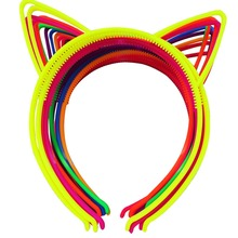 12pcs ABS Plastic Girls Cat Ears Headband Hairband Head Band Baby Children Accessories(China)