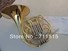 French Horn Double-Row Split 4 Key Single FB Key Bb flat Wind Instruments French Horn with Nylon Case Surface Gold Plated