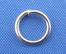 DoreenBeads 500PCs Silver Tone Color Open Jump Rings 7mm Dia. (B00313), yiwu(China)