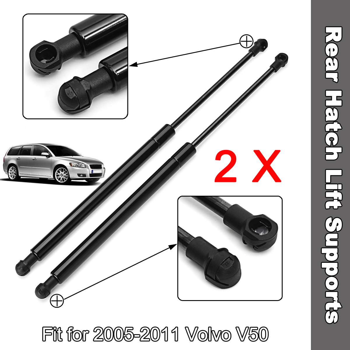 2 Qty Front Hood Lift Support Strut Gas Spring For 2005-11 Audi A6