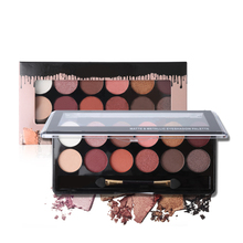 Buy Women 12 Color Matte Metallic Eyeshadow Palette Waterproof Eye Makeup Nude Shimmer Eye Shadow Powder Make Palette Brush for $3.44 in AliExpress store