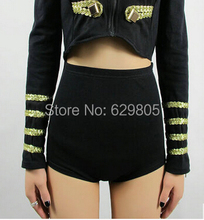New star style fashion neon 3 color sexy high waist shorts female singer ds lead dancer costumes stage wear performance pants