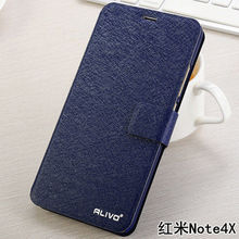 ALIVO Brand for xiaomi redmi note 4x Case Cover Flip PU Leather Stand Case For xiaomi redmi note 4x Book Style Cell Phone Bag