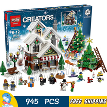 945pcs Creator Expert Winter Holiday Toy Shop 39015 DIY Model Building Kit Blocks Gifts Children Toys Compatible With lego(China)