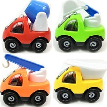 2017 Baby toy 4pcs/lot Children's plastic toys back car model & luxury car toys(China)