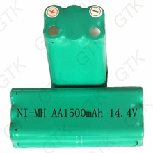 14.4v ni-mh rechargeable 1600mah Nimh AA battery pack fo R1-L051B ZN101 KK-6 m607 intelligent sweeping robot vacuum cleaner(China)