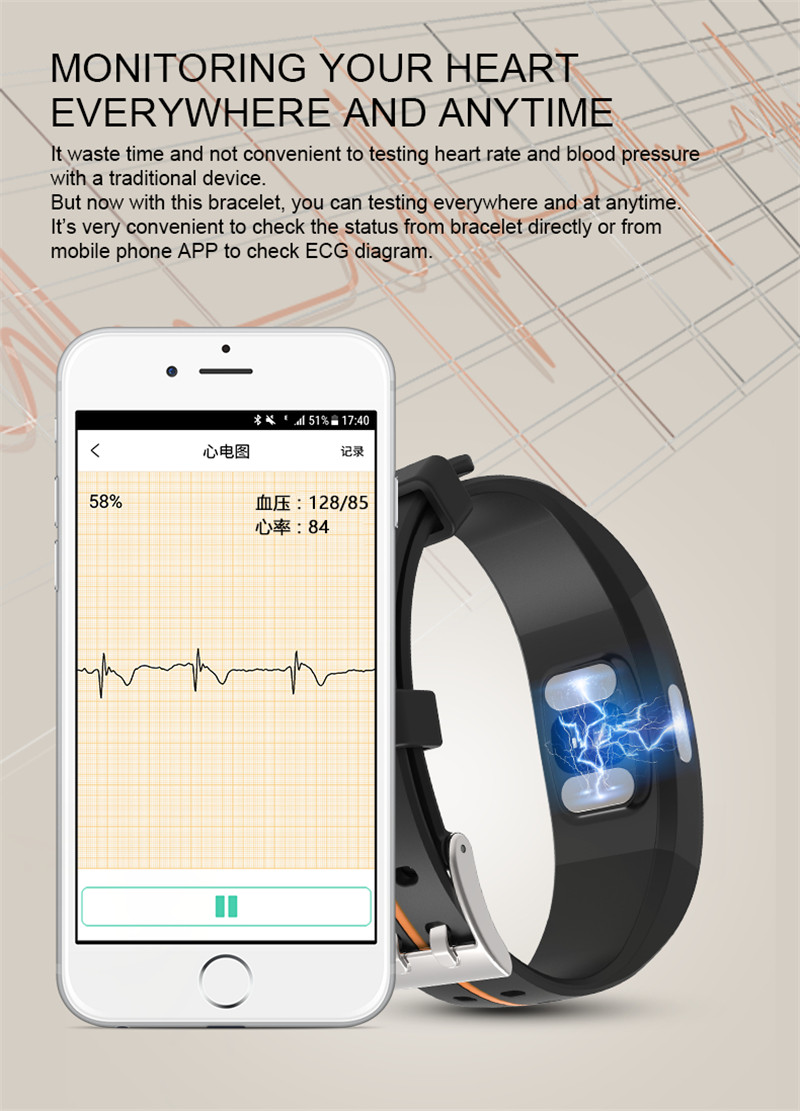 Activity Tracker with Blood Pressure Watch 3
