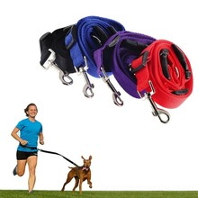 1pc Adjustable Dog Leash Pet Running Training Traction Collar Nylon Slip Dog Leash Rope Chain Harness Walking Rope(China)
