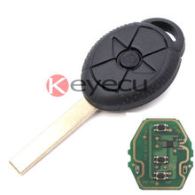 Uncut Keyless Entry Remote Key Fob 315Mhz/433Mhz ID44 for BMW Mini Cooper S R50 R53(China)