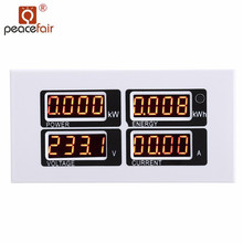 Multifunction Meter AC 80-260V/100A Monitoring Multimeter Current Voltage Power Energy Tester With CT USB Adapter