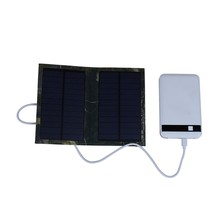 Solar Power Bank Portable Foldable Cell USB Solar Panel Charger For Cellphone for iPad 6W