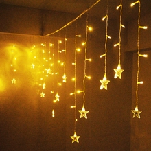 Led curtain lights Christmas indoor decoration lamp lighting string light flash small in lantern Christmas LED lighting