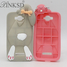 For Alcatel One Touch Pop C7 Case Soft Rubber Silicon Rabbit Mobile Phone Cases Cover For Alcatel C7 OT 7040 7040D OT7040 7041D(China)