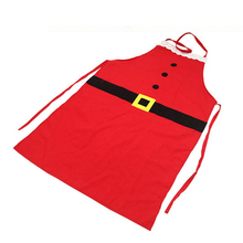 Christmas Santa Claus Apron Adult Free Size Pinafore Kitchen Cooking Tool - Red