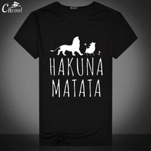 877159df7cd The Lion King Man s T-shirt Streetwear Hakuna Matata Print Shirt Short  Sleeve Casual T Shirt 2018 for Men Funny Tops