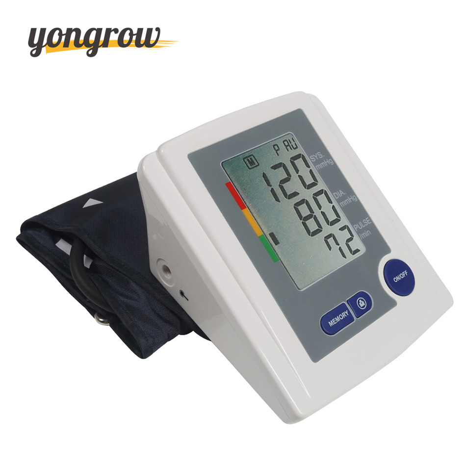 Yongrow Blood Pressure Monitor Tonometer Pressao Arterial BP Monitor LCD Display Blood Pressure Gauge <br>