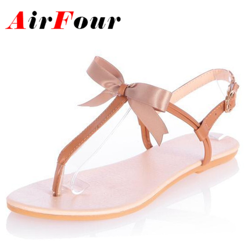 Airfour  New Womens Sandals Womans Flats Shoes Platform Sandals Summer Gladiator Ankle Straps Sexy Bohemia Flats Casual Shoes<br><br>Aliexpress