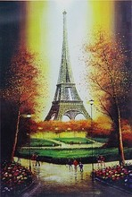 1000 pieces thick paper puzzle Landscape Eiffel Tower jigsaw adult children education puzzles adults 1000 piece puzzel