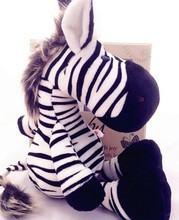 25cm Cute Germany NICI Jungle Brother Zebra Plush Doll for children birthday gifts 1pcs(China)