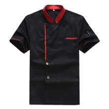 Chef Jacket Coat Chef Uniform Kitchen Men Short Sleeve Cooker Work Restaurant Chef Jackets(China)