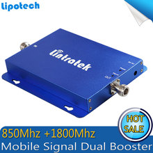 UMTS 850Mhz +3G 4G LTE 1800 Dual Band Cell Phone Repeater CDMA 850 1800mhz 65dB Amplifier Repetidor Mobile Signal Booster