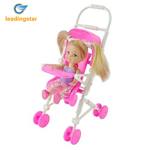 LeadingStar Beautiful Baby Stroller Infant Carriage Stroller Trolley Nursery Furniture for Barbie Christm Gifts for Baby zk15