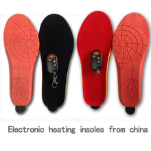 Heating Insoles with Battery Winter women Shoes Boots Pad Wireless Remote Control with Battery Powered EUR Size 35-40# 1800mAh
