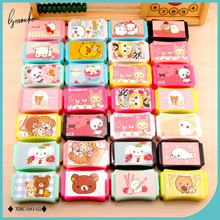 Lymouko Cute Diverse Cartoon Animal Patterns Portable with Mirror Plastic Contact Lens Case Lenses Box for Women