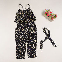 Flower Kids Baby Girls Dress Summer Cotton Pastoral Style Jumpsuit Pants 2-8Y