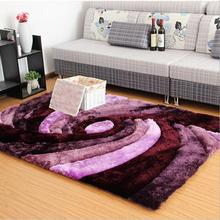 LW Large Size Retro European 3D Purple Pattern Carpet Living Room Bedroom Bedside Coffee Table Sofa Pad Foor Balcony Yoga Mats