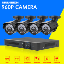 CCTV System 4ch dvr kit 4 channel outdoor waterproof video surveillance Camera Kit Home 4CH WIFI AHD DVR security camera System