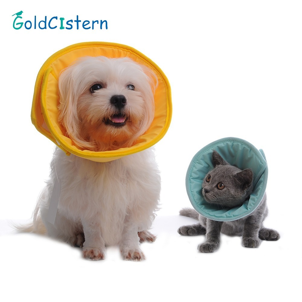 Comfy Soft Pet Dog Collar Elizabethan Cone Collars Wound Healing Remedy Recovery Protective Collar Collars Goods For Dogs Cats(China)